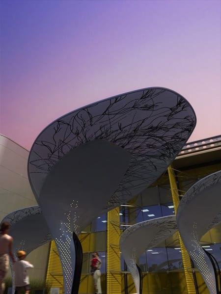 energia solar arboles buro north