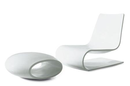 chaise longue minimalista porro