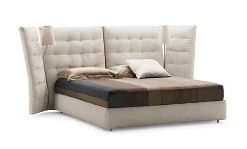 camas modernas tapizadas flou