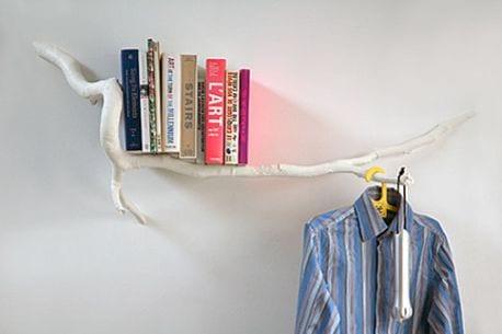 estantería minimalista decoracion ramas