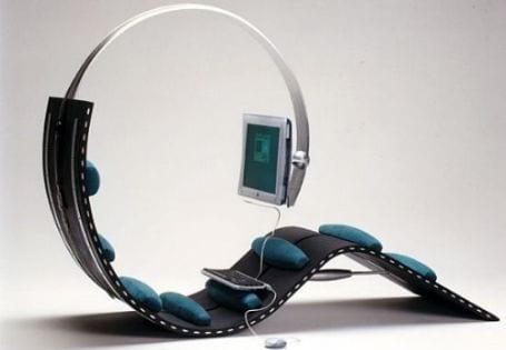 silla ergonomica futurista estacion trabajo