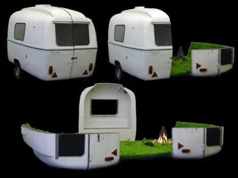 caravana diseño vehiculos camping