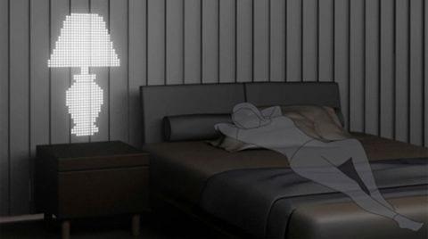iluminacion solar lampara solar persiana diseño