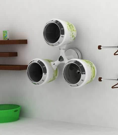 lavadora secadora diseño futurista reciclaje