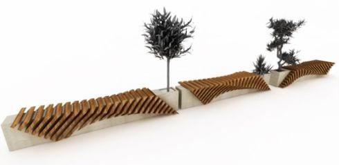 mobiliario urbano diseño exterior Sammartino