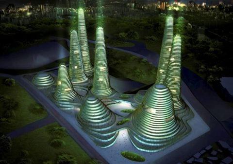 gwanggyo project competition won mvrdv architects1 Gwanggyo Power Centre, la ciudad ecológica