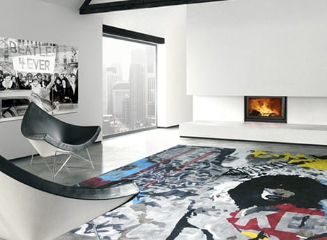 alfombras modernas diseño pop art