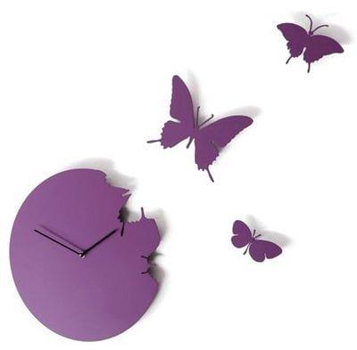 reloj diseño mariposas