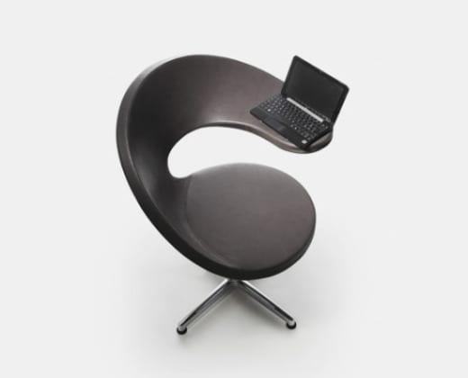 silla ergonomica oficina laptop