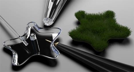 diseño paraguas microjardin