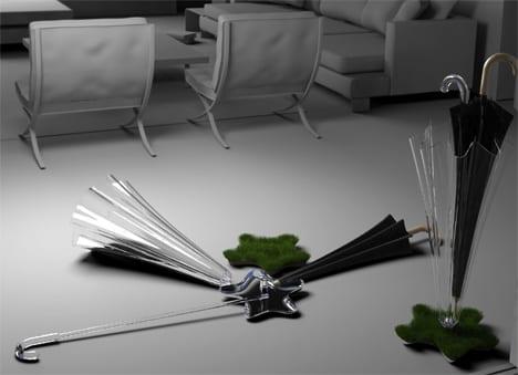 diseño paraguas jardin cesped