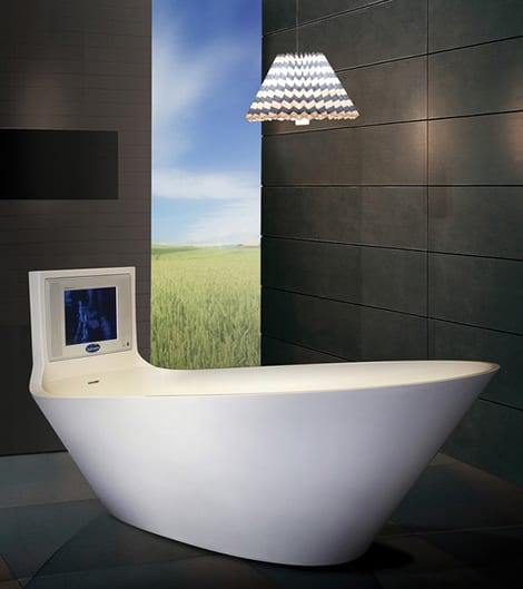 bañera con television karim rashid