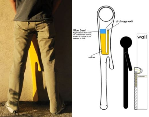 urinario publico diseño divertido