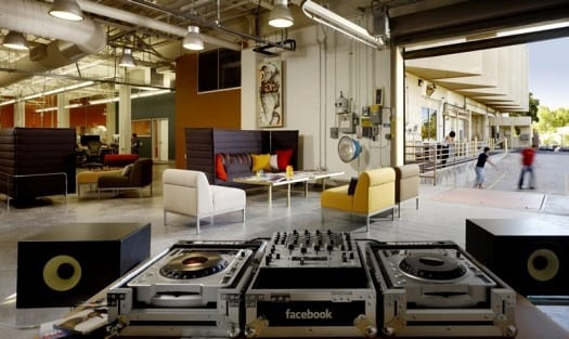 decoracion oficinas de facebook