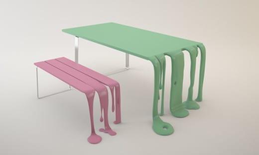 banco mesa diseño Florent Degourc