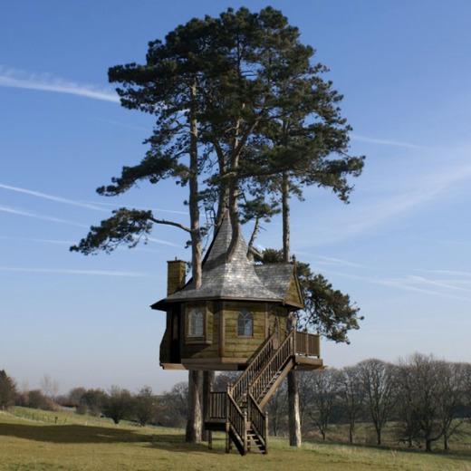 casas de madera en arboles