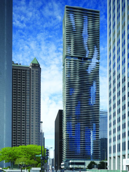 arquitectura moderna contemporanea aqua tower chicago