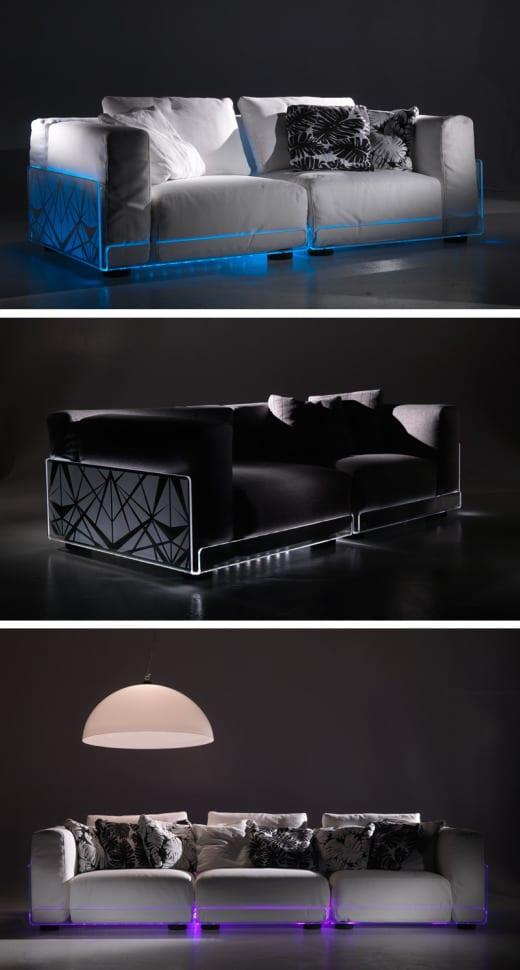 sofa sillon diseño iluminacion led