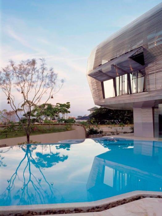 casa de lujo arquitectura piscina