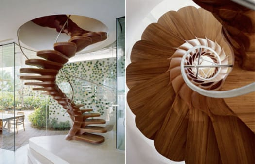 escalera de caracol decoracion arquitectura