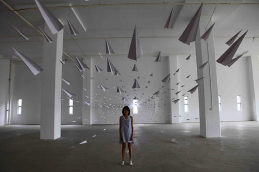 planes21 Aviones de papel, por Dawn Ng