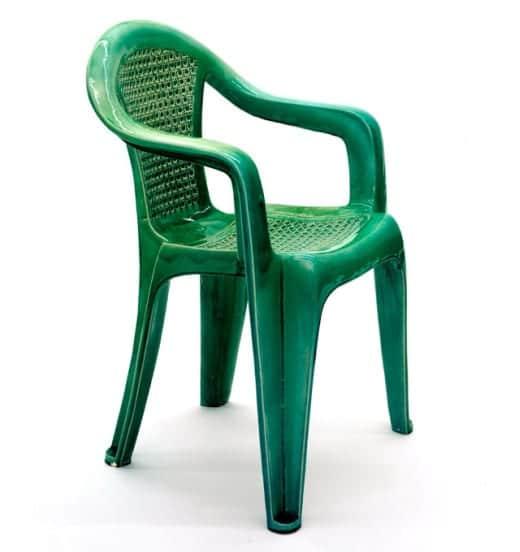 sillas plastico monobloc ceramica arte