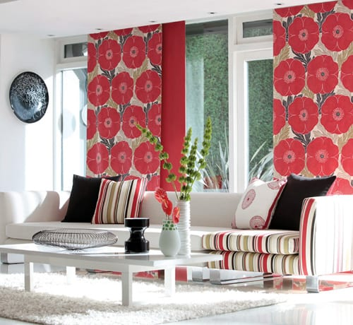 salon cortinas decoracion textil