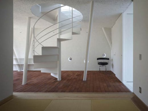escalera de caracol espiral diseño