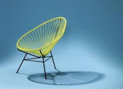 silla de diseño acapulco chair amarillo