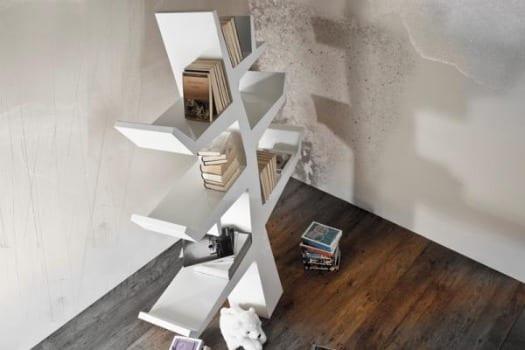 estanteria libreria de diseño arbol