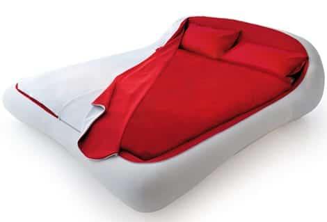 cama minimalista blanca diseño contemporaneo