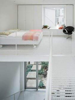 dormitorio decoracion minimalista blanco duplex