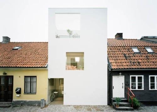 casa blanca arquitectura sueca townhouse