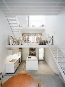 decoracion duplex blanco minimalista
