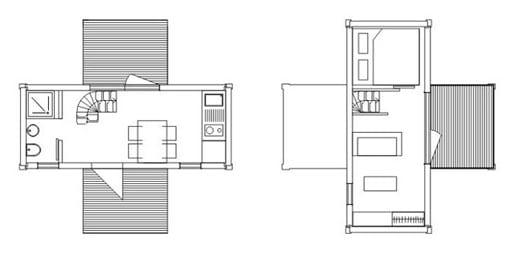 planos vivienda container