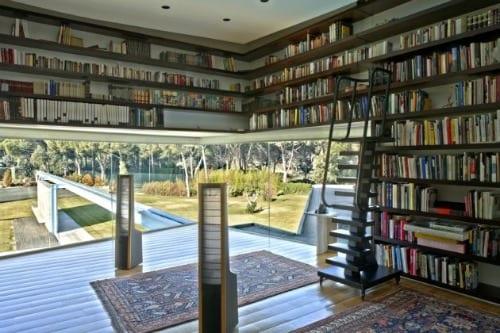 a-cero arquitectos casa pozuelo biblioteca