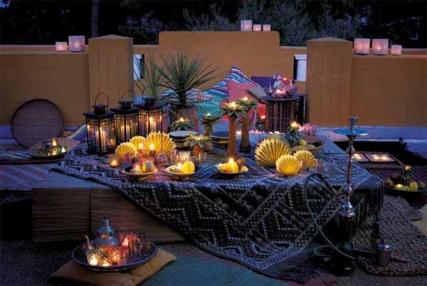 Como decorar con velas en exteriores