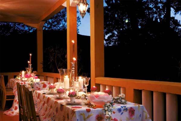 Decorar mesas con velas