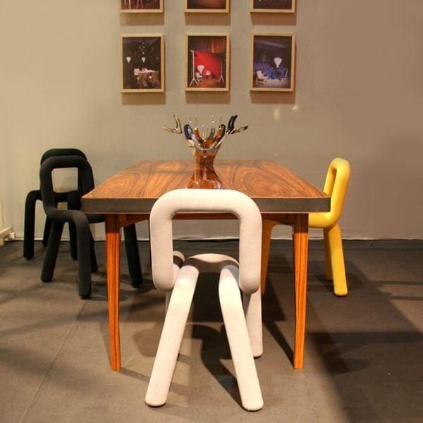 sillas de acero