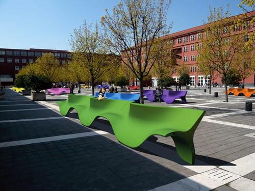 mobiliario urbano moderno contemporaneo
