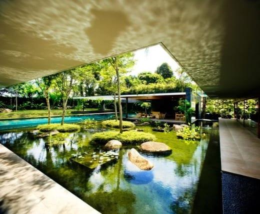 casa sostenible arquitectura jardines cluny house