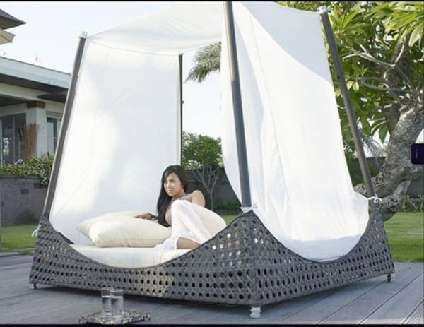 Camas con dosel for Camas balinesas para jardin