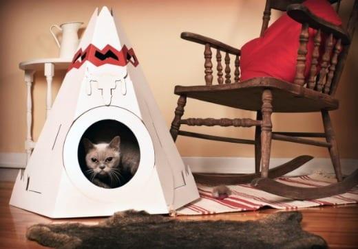 caseta gatos cabaña artistica