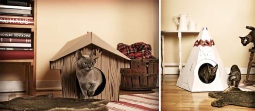 caseta para gatos decorativa