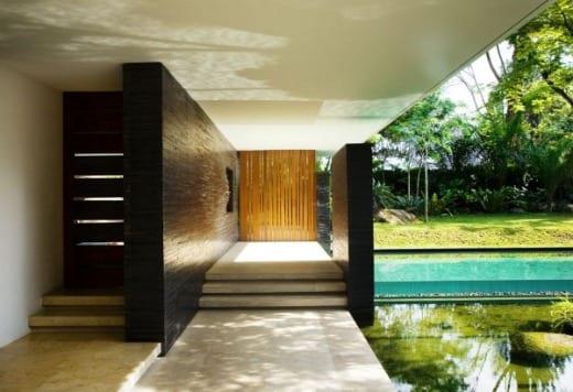 casa decoracion madera teka escaleras
