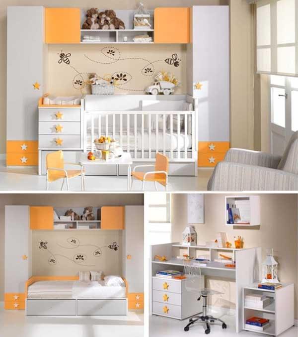 Habitación para bebe y juvenil