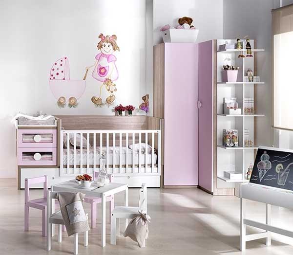 Habitacion bebe niña