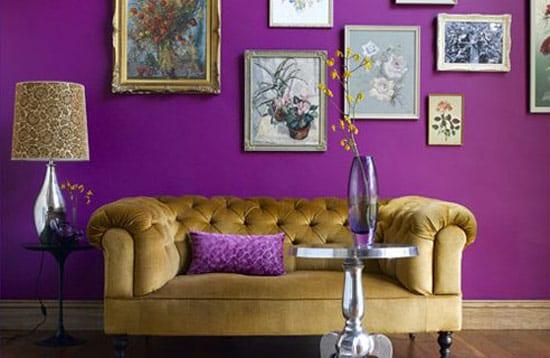 pared con contraste de color
