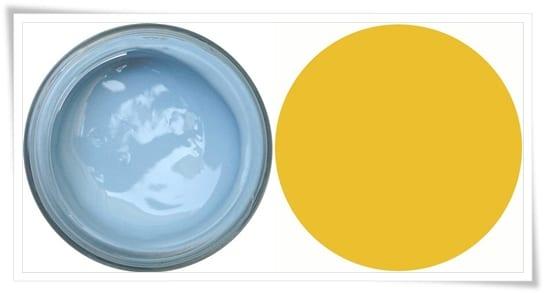 Azul classic y amarillo sunbean