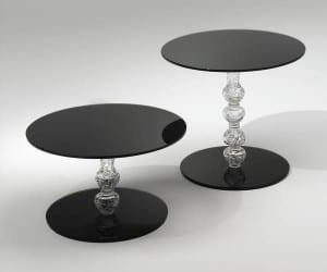 mesitas redondas de cristal